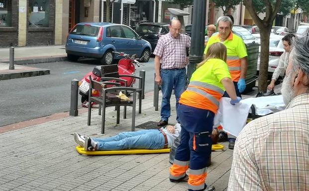 Herido un motorista en un accidente en Gijón