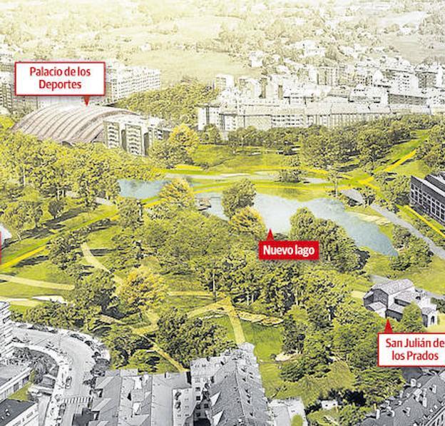 Así se reordenará el espacio urbano junto a San Julián de los Prados bajo la óptica de la propuesta ganadora en el concurso de ideas que ahora entra en fase de ejecución. / E. C.