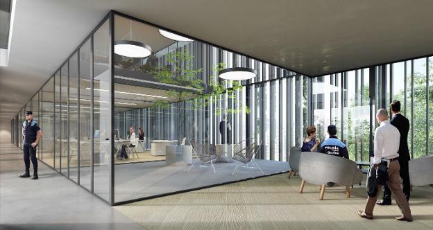 La nueva sede de la polic a local tendr cubierta vegetal y dieciocho patios interiores el - Cubiertas para patios interiores ...