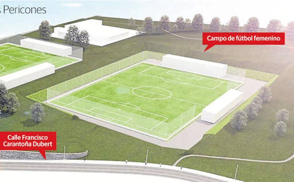 La compleja orografía eleva el coste del campo de fútbol femenino a ...