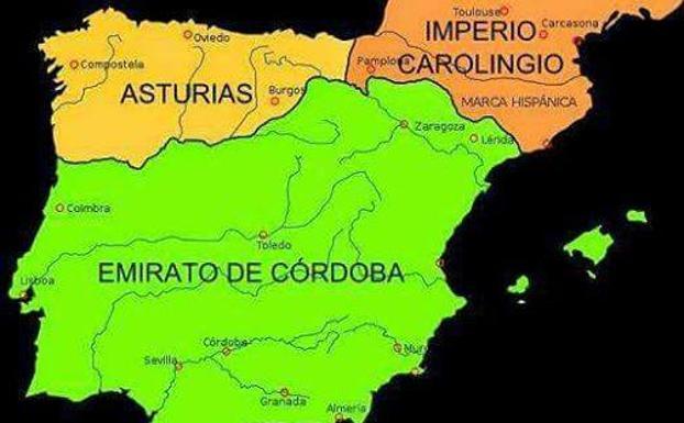 Mapa Reino De Asturias.La Respuesta De Una Gijonesa A La Profesora Catalana Que Dijo Que Asturias No Fue Reconquistada Porque Habia Poco Mas Que Rebanos De Cabras El Comercio