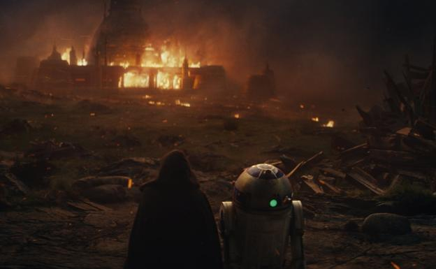 Escena de 'Star Wars VIII: The Last Jedi'.