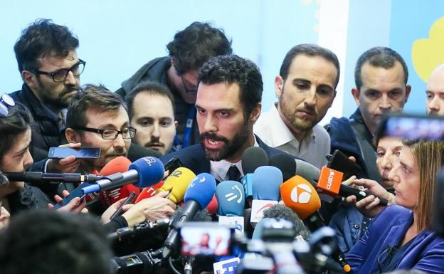 El presidente del Parlament, Roger Torrent./Stephanie Lecocq (Efe)
