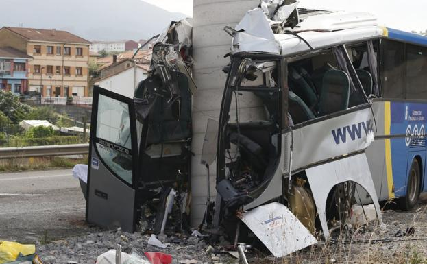 Un ataque epiléptico del conductor, posible causa del accidente de Avilés