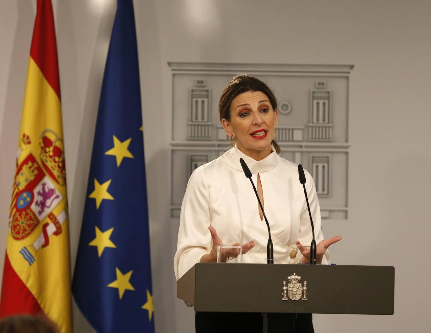 La ministra de trabajo, Yolanda Díaz. /Javier Lizón / EFE
