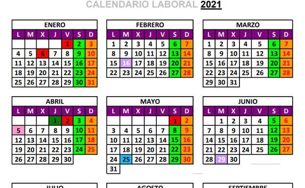 Los puentes y megapuentes del calendario laboral 2021